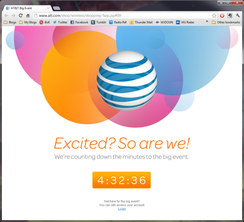 Every single link on AT&T's site shows this stupid page. What a worthless website. Someone needs to be fired.
