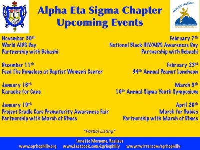 Alpha Eta Sigma Chapter events