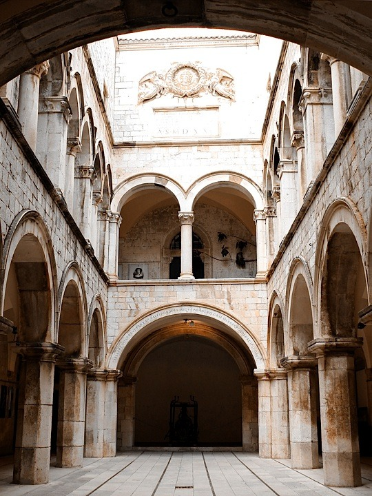 | ♕ |  Sponza Palace courtyard - Hvar, Croatia | by © felber | via ysvoice