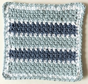 simple single crochet stitch pattern dishcloth