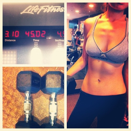 hollyxlee:  Been slacking off. But I'm back at it!  time to FOCUS!   #motivated #gym #fit (Taken with Instagram)