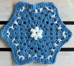 another hexagon dishcloth