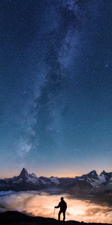 unknownskywalker:  Above the clouds - under the stars by Gilles Monney