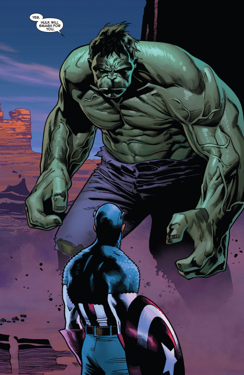 "*""Hulk Will Smash For You"" // artwork by Oliver Coipel and Laura Martin (2012)"