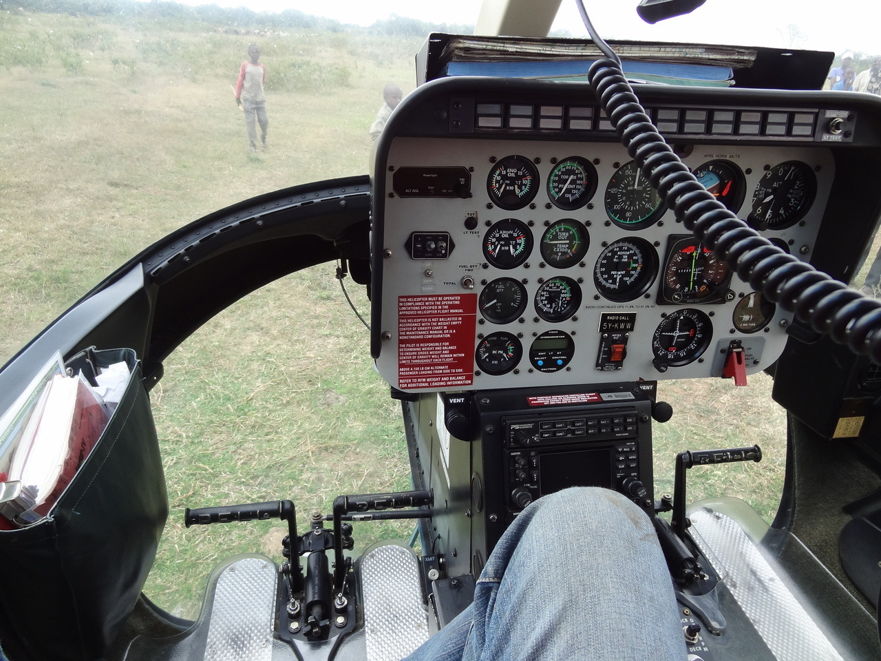 Co-pilot seat of the helo!