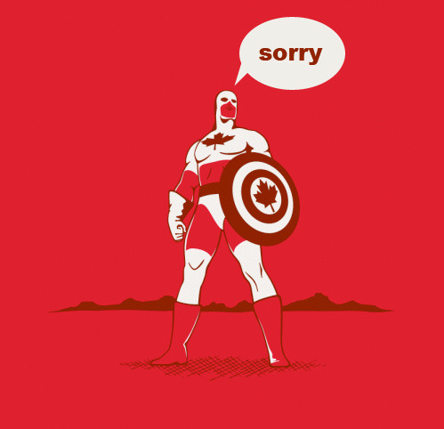tastefullyoffensive:  Captain Canada[bt/via]   Stereotype, but funny.