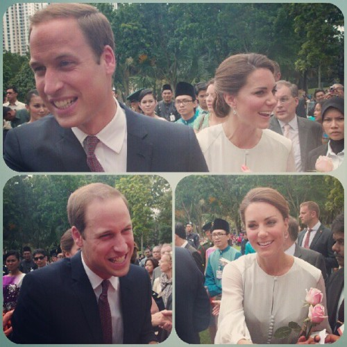 #WillandKate #princewilliam #katemiddleton #KLCCpark #british #royalty (Taken with Instagram)