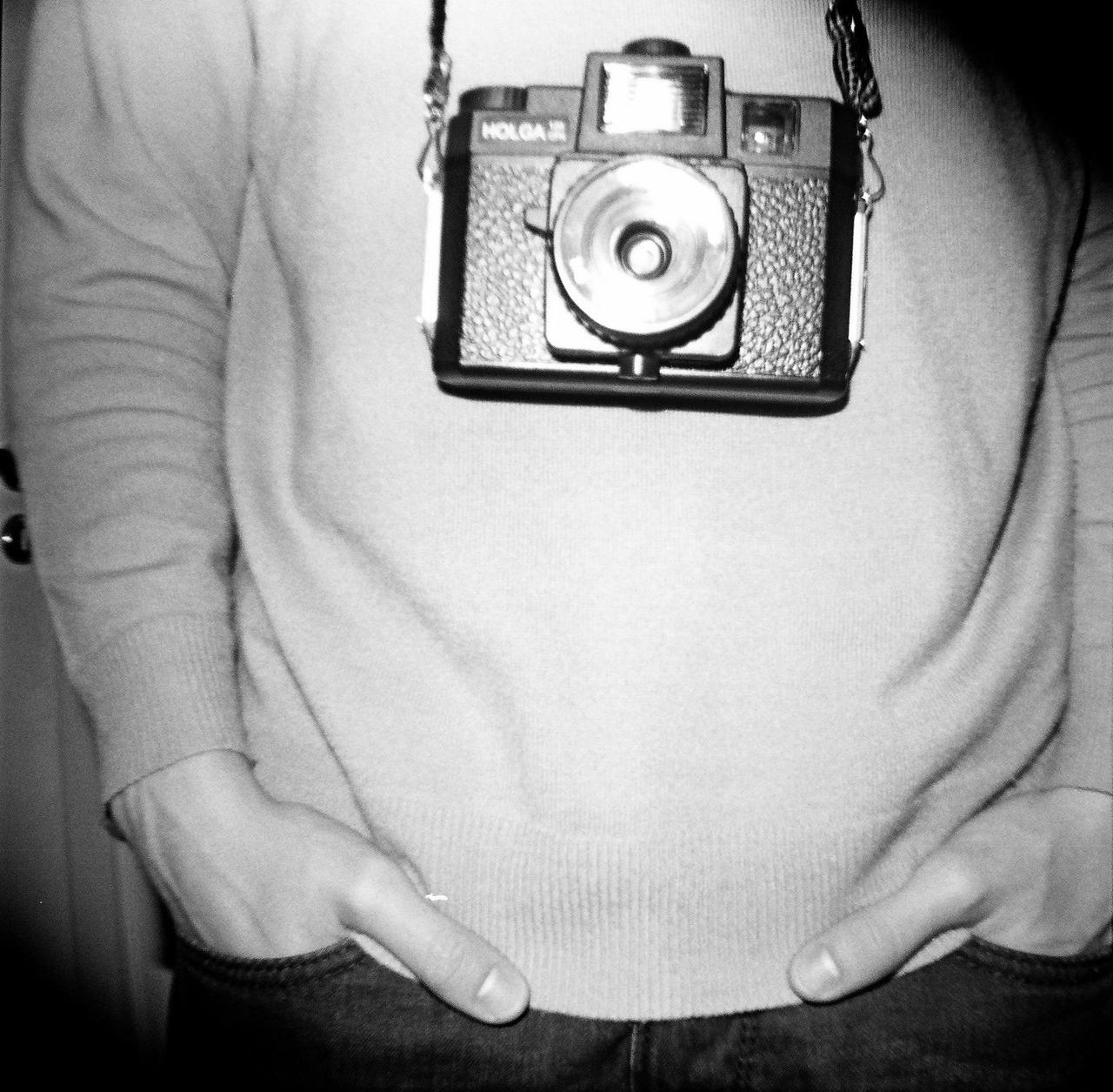 Lucaro and his HOLGA. Fujifilm Neopan 100 + Diana Mini