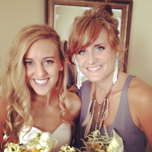 Laura and Kelsey at Laura's wedding last  Sunday :)