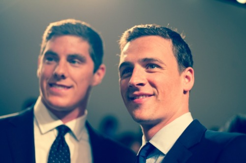 jadoreprettythings:  Connor Dwyer and Ryan Lochte at Ralph Lauren