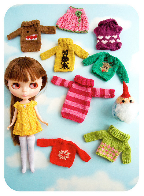 2day-ago-kids:  handmade knits by sugarelf on Flickr.