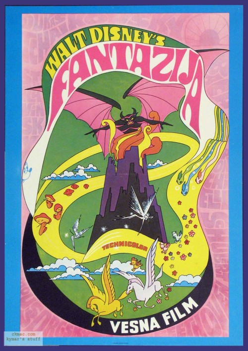 Disney's Fantasia (1940): psychedelic theatrical poster for the 1970 re-releaseNight on Bald Mountain