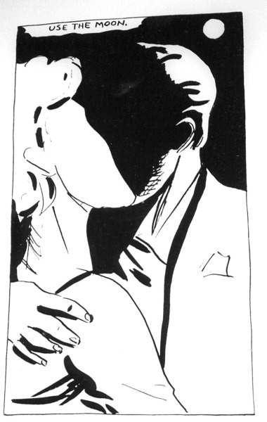oh, pettibon.  pettibon-e:  use the moon.