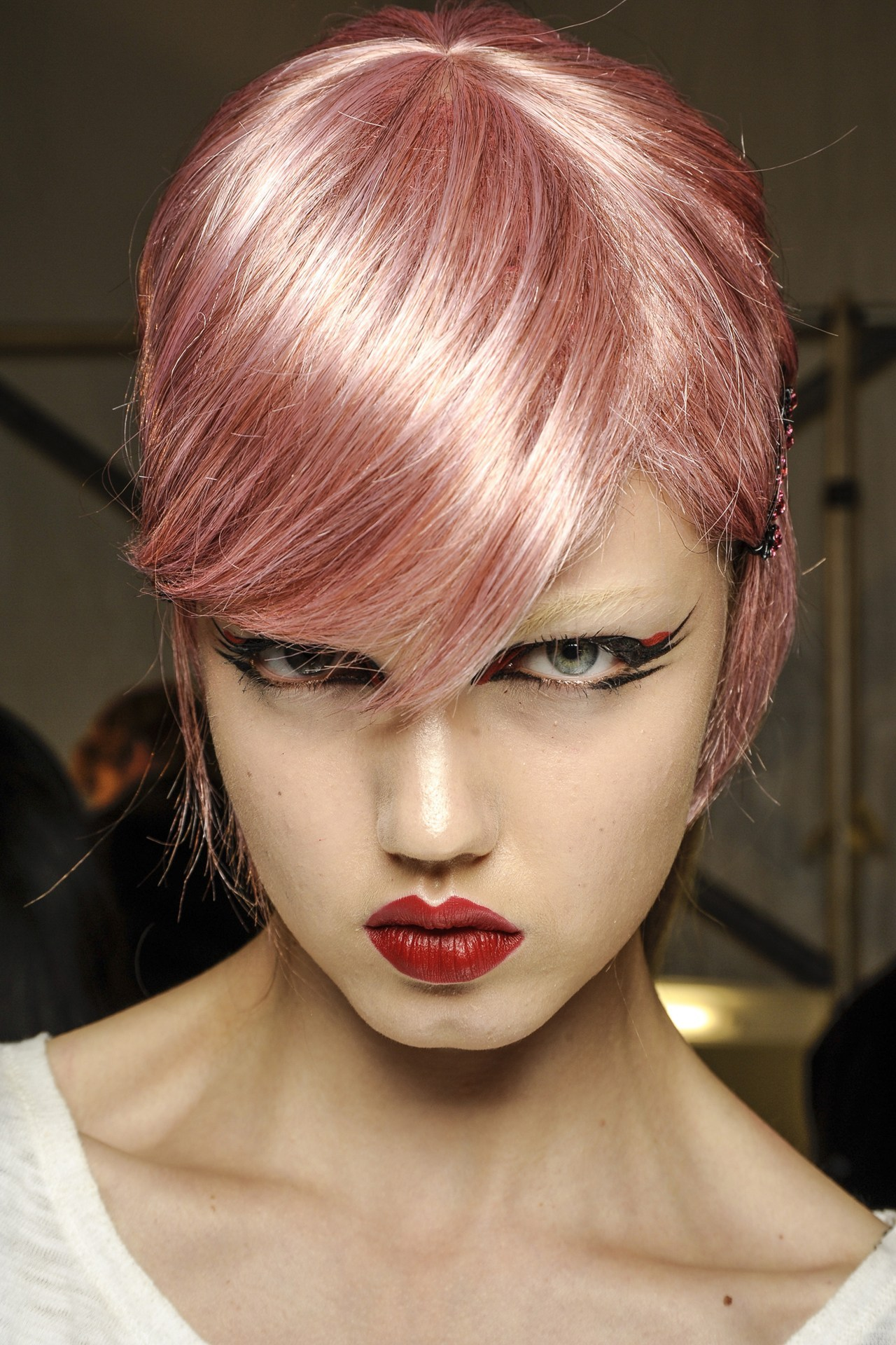 Lindsey Wixson backstage at Anna Sui Spring/Summer 2013