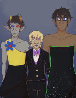 mustachioedoctopus:  For the record: Sollux's dress is intentionally hideous.