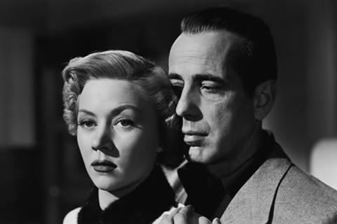 "Gloria Graham & Humphrey Bogart - In a Lonely Place (Nicholas Ray 1950)  ""I was born when she kissed me. I died when she left me. I lived a few weeks while she loved me"""