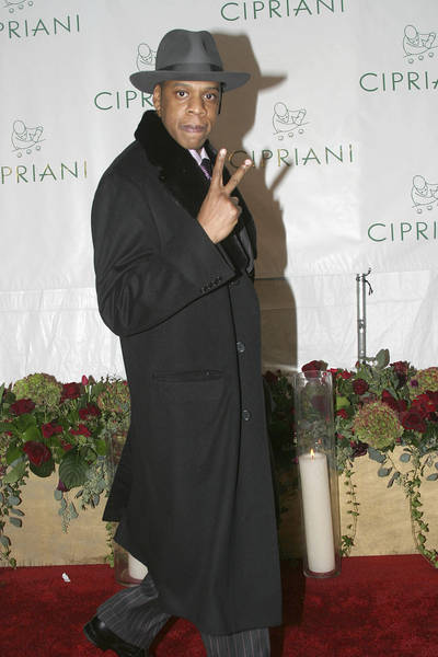 Jay-Z arrives at Diddy's 35th birthday party in New York in 2004.