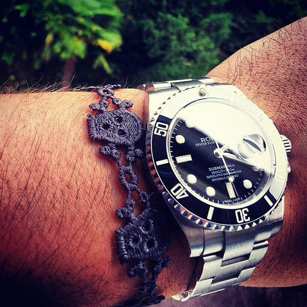 beyondfabric:  Rolex and Skulls  I want me a Rolex