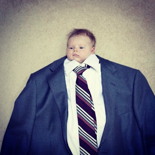 Babies in big suits _thecoolhunter_, instagr.am