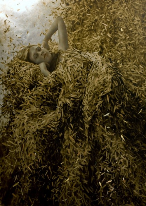 Leaf painting by Brad Kunkle.