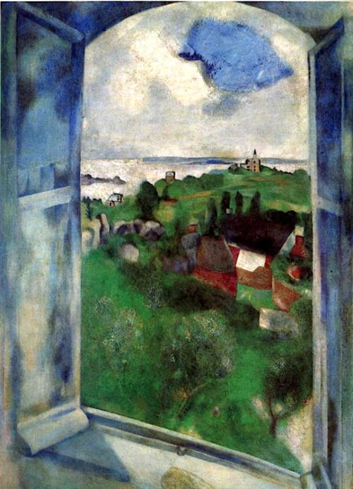 alongtimealone:  The Window, 1924 Marc Chagall (by BoFransson)