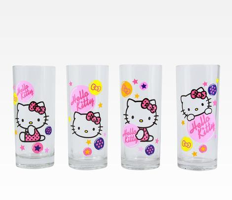 hello-kitty:  Hello Kitty 4-Piece Shot Glasses  want ♥