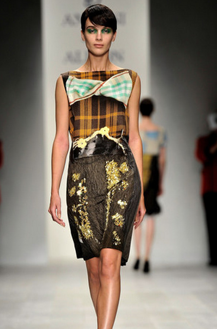 LFW SS2013: Antoni & Alison Catwalk Colour splash, large brush strokes and totally embellished