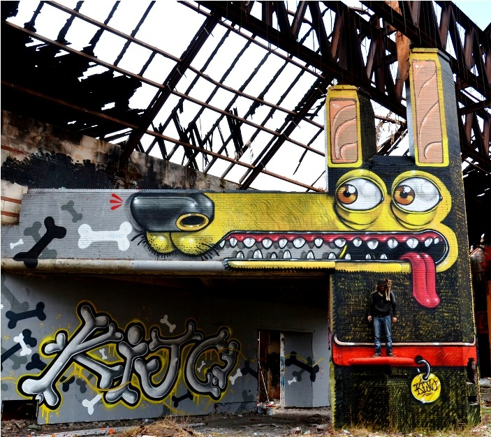 "Pure awesome! This piece is by Mr. Thoms from Italy, with lettering by Orgh. Its called ""My Little Kijo"" (dedicated to his pooch). Check www.thoms.it for more!"