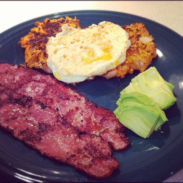Sweet potato latkes for #breakfast hit the spot. #paleo #primal #eatrealthings  (Taken with Instagram)
