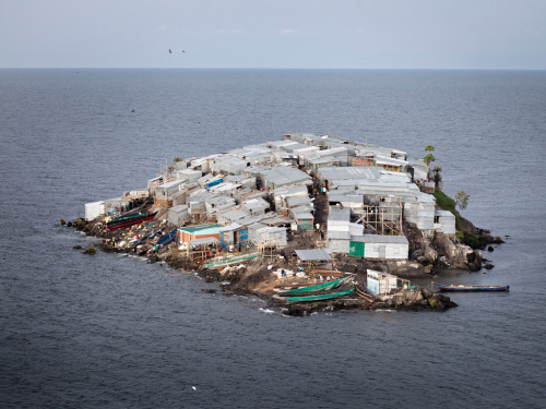Half the size of a football pitch, Migingo Island on Lake Victoria is claimed by both Kenya and Uganda. The population of 131 is made up of mostly fishermen and traders.  Jesco Denzel