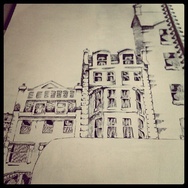 A3 sketchbook drawing, frrt (Taken with Instagram)