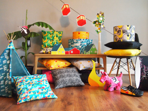 LAUNCHED THIS WEEK! The Ben the Illustrator Collection - Fabrics and fabric products that bring an exclamation mark to any home. Now available from BTICollection.com!