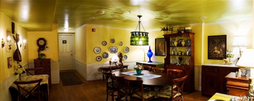 New photo of our updated Dining Room at Scarborough Fair Bed & Breakfast.