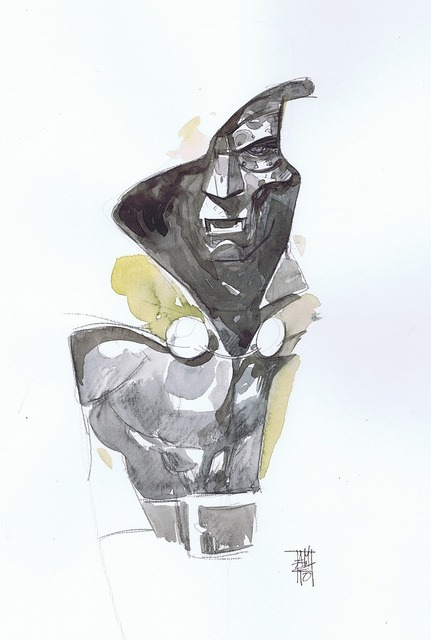 This one is just simply beautiful. Doom by Alex Maleev.