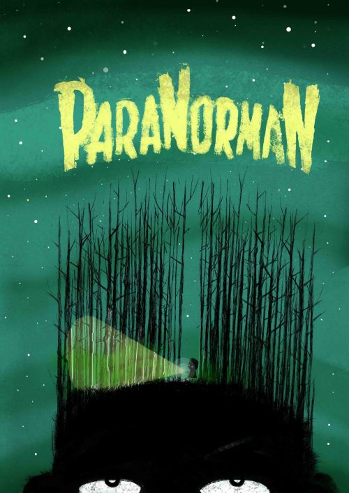 therabbitportal:  Paranorman comes out today in the UK so I did a little poster, I urge you all to go see it and support the amazing practice of stop motion animation.