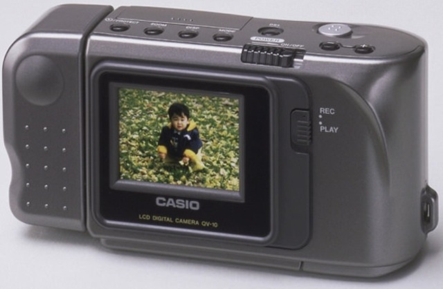 "ianbroyles:  thisistheverge:  Casio QV-10, the first consumer LCD digital camera, lauded as 'essential' to tech history You might not be familiar with Casio's QV-10, but it was a revolutionary product back in 1995 — the world's first consumer-grade digital camera to come with an LCD for previewing and viewing images. Now, to recognize the contribution the QV-10 made to the rise in popularity of digital photography, Japan's National Museum of Nature and Science has given it the status of ""Essential Historical Material for Science and Technology."" It's the third Casio product to receive the accreditation after the Mini electronic calculator and the prototype DC-90 digital camera.  This was my first digital camera when I was 15. 320x240. 2mb internal memory could hold 96 images. Swivel lens. It was amazing. I took thousands of photos with it and it is what really got me into taking pictures.  This was my first camera too, it's still back at my mother's house and I even bought the subsequent models. One even had a little printer that was just nuts."