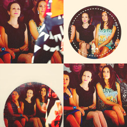 Laura Benanti & Bebe Neuwirth at Vivienne Tam - Front Row - Spring 2013 Mercedes-Benz Fashion Week [source]