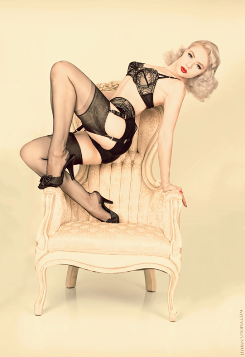 Lingerie by Dottie's Delights - Stockings from GirdleBound.com themoshblog:  Mosh by Yamileth Miller