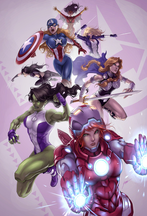 Is this Iron Lady? Didn't know that such characters exist :) Avengers girls version