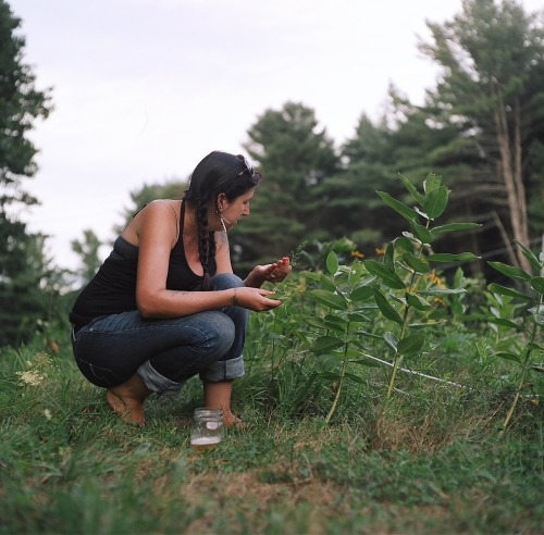 juliana in the field. medium format. kodak portra.