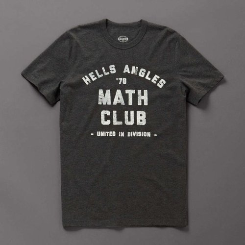 surplus-mag:  Math Club Tee Nothing goes together quite like a dangerous motorcycle club and the quadratic equation. Embrace both with this tee.  Surplus Mag tapped into my brain this week. I need this shirt to wear when I'm working on my cryptography homework, because that's how I feel.