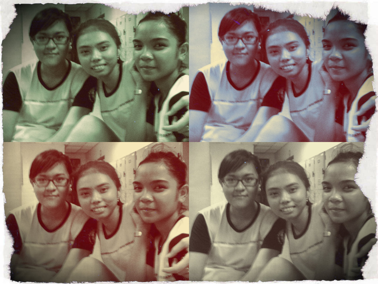 "A shot of the Haggard PE Girls <3 Right after Aerobics Performance for our PE Class :>  With Ashley and Louise! :"">"