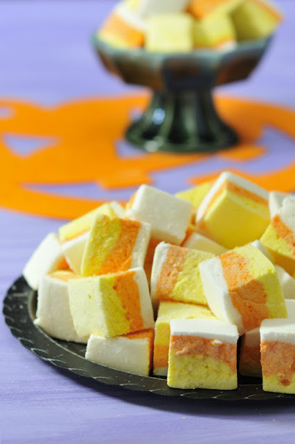 Candy Corn Marshmallows by Haniela's Food & Photography, just one of MANY incredible creations featured in Food Fetish Friday 9/14/2012