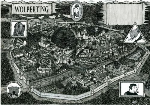 The City of Wolperting from Rumo and His Miraculous Adventures by Walter Moers