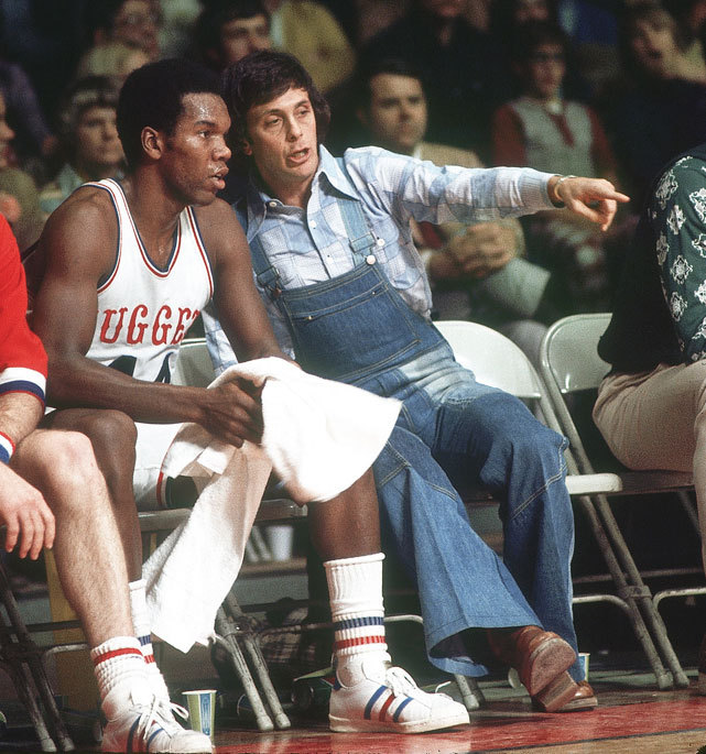Nuggets coach Larry Brown gives instructions from the bench during a 1975 ABA game against the Pacers. Brown, who has coached in 14 different locations in his 40-year career, will take over the SMU basketball program this season. (Heinz Kluetmeier/SI) GALLERY: Larry Brown's Odyssey