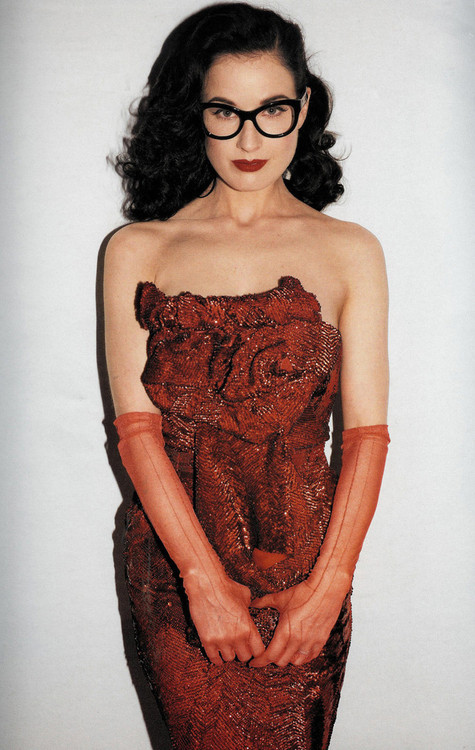 Dita Von Teese photographed by Terry Richardson