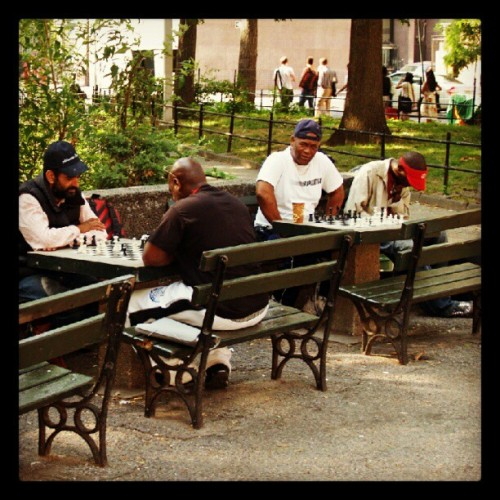 hellcat1970:  #WashingtonSquarePark #Chess #NYC #NewYork (Taken with Instagram at Greenwich Village, NY)  Is it completely lame that this is the thing I'm most excited about? Haha
