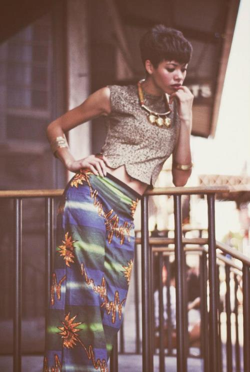 nadiyahtrick: Yes, Yes, Yes to the halle cut. blackfashion:  Model: Kourtney Trousers Designed/Sewn by: Zunyda Watson  Photographer: Teff, THE don Styled by: Zunyda & Teff Submitted by: http://omniscienttheory.tumblr.com/