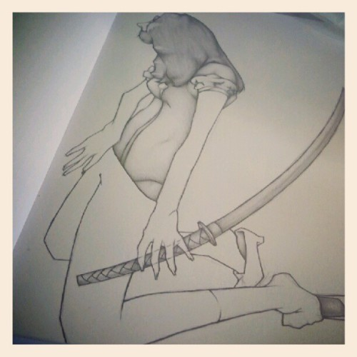 Progress #wip #Illustration #drawing #female #fairytale #badass #snowwhite #sword #art #defcise #mywork #workinprogress  (Taken with Instagram)