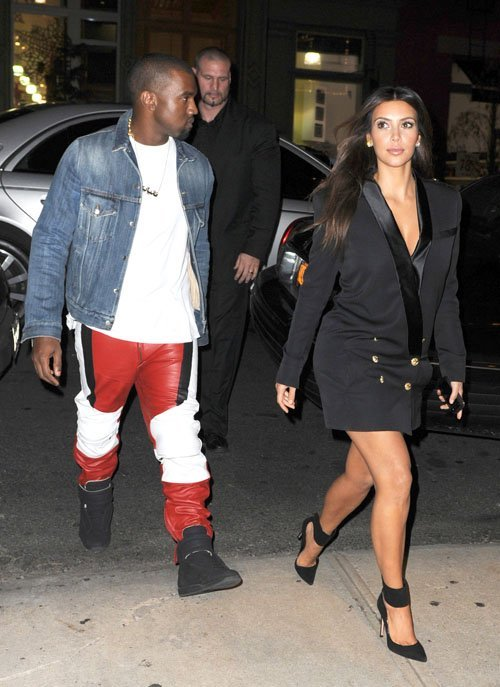 Get the Look: Kim Kardashian's SoHo Balmain Black Blazer Dress and Gianvito Rossi Ankle Wrap Pumps